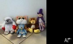 5 soft toys for sale for $5! Only $1 each! Pick up