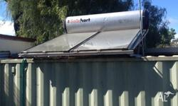 Here is aprox 300 lt solar hot water system with two