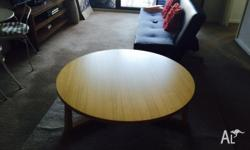 Solid beach timber coffee table 120cm. Solid wooden