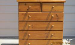 THIS SOLID PINE 6 DRAWER TALLBOY IS IN EXCELLENT