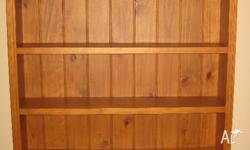 Solid pine bookcase. Excellent condition. Measures