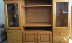 Solid Pine Entertainment/Display Unit. 1800 x 135 x