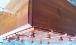 hi for sale is solid timber tallboy it is in excellent
