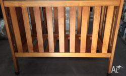 Tasmanian made Solid distressed timber cot inc quality