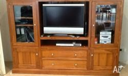 Excellent condition solid timber TV cabinet for sale.