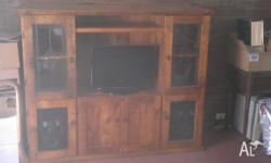 Tv cabinet in excellent condition. Tv shown, not