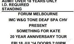 Something For Kate 20th Anniversary Tour Location -