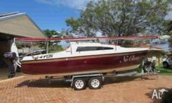 Sonata 7 (23ft) fiberglass trailer sailor with pop top