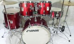 Sonor Performer 1984 Vintage 5pce Beech Drum Kit.