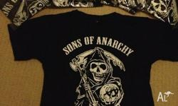 Black in color with Sons Of Anarchy Printed in White.