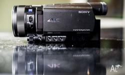 Hi selling my 1 month old Sony AX100 4K Video camera.