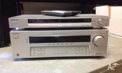 Sony 5.1 channel amp and Sony DVD player for sale. In
