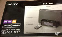 Sony Personal Audio Docking System Model: XDR-DS12iP