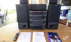 SONY 5CD Midi System with Superwoofers. Great sound.