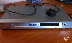 A Sony DVD/CD player. Also plays MP3s. It does,