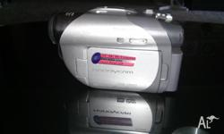 Sony handycam with case . working perfectly fine. Very