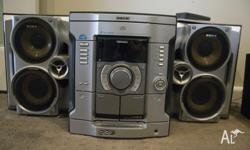 As new, Sony Mini Hi-Fi Stereo Stores 3 CD's and 2