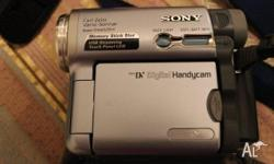 Sonymini DV handycam. Includes carry bag.