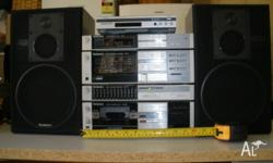 TECHNICS COMPOSITE SOUND SYSTEM COMPLETE WITH SPEAKERS.