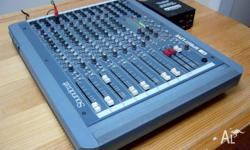 Soundcraft Spirit Live 8 channel vintage analog mixing