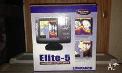 Elite 5fishfinder/chart plotter brand new in box. One