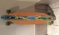 Hey, so I'm selling my used long board, good condition,