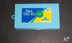 2 in 1 test kit. Easily test your pool or spa for