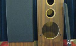 Genuine walnut veneer speaker enclosures. External