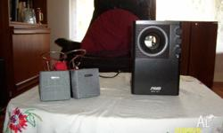 Speed speakers.3 piece the largest with volume, treble