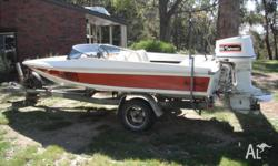 14� ski boat/ runabout with 115 hp V4 Johnson in great
