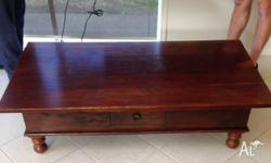 Dark Hardwood Coffee Table. Excellent Condition. Has a