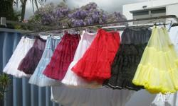 Petticoats (variety of colours), Skirt & Top sets, few