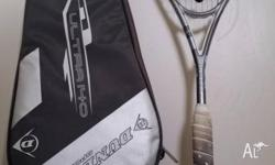 Dunlop Ultra 140 Squash Racquet. Includes cover with
