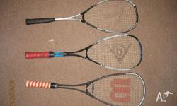 3 x squash racquets for sale The squash racquets are: -