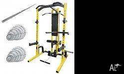 Squat Rack and Lat Pull Down Seated row PRT033-Y