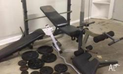 For sale marcy weight bench�squat rack with ; Situp