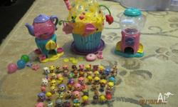Squinkies Cup Cake Bakery, Tea Cup and Gumball Playset
