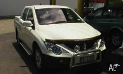 SSANGYONG,ACTYON SPORTS,Q100 MY08,2008, 4x4, White,