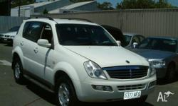 SSANGYONG,REXTON,Y200,2005, 4WD, WHITE, 4D WAGON,