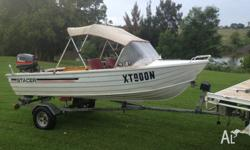 Stacer 3.8m boat Great little runabout Absolutely no