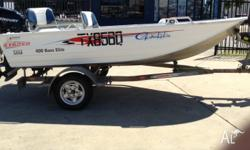 Stacer 400 bass elite Mercury 30hp 4 stroke Telwater