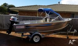 stacer 420 2006 mariner 30 both boat and trailer