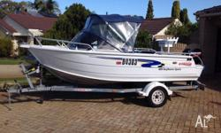 Features include 60Hp Mercury, regularly serviced, 154