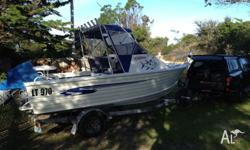 5.3m Stacer Aluminium Cuddy Cab Great all round boat in