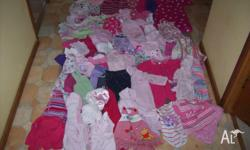 NEED TO SELL ASAP!!! Stack of baby girl clothing sizes