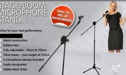Stage boom microphone stand. This great microphone