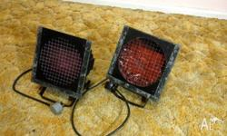 2 x Par Stage lights, can be mounted on stands or
