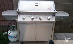 stainless steel bbq for sale!!! plus a free gas bottle