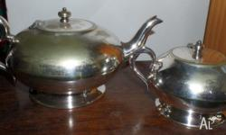 Teapot and Lidded Sugar Bowl. Stamped 'Renown EPNS'. No