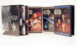 Entire STAR WARS DVD set. Excellent condition. IV, V &